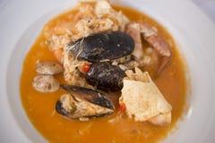 PORTUGAL ALGARVE FOOD ARROZ DE MARISCO royalty free stock photo