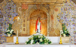 Portugal, Algarve, Lagos: Church in the Fortress Royalty Free Stock Photography