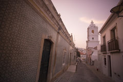 PORTUGAL ALGARVE LAGOS OLD TOWN Stock Images