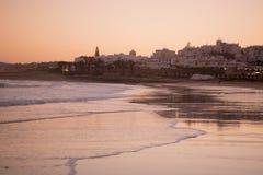 PORTUGAL ALGARVE LUZ BEACH Stock Images