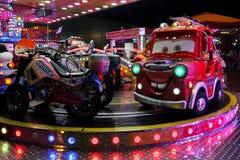 Carousel cars ride Stock Photos