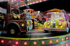 Carousel cars ride Royalty Free Stock Images