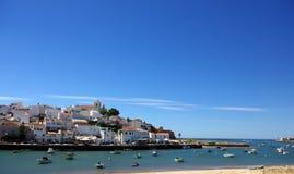 Portugal in Algarve region. Photo of Ferragudo, Portugal in Algarve region stock photography