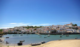 Portugal in Algarve region. Photo of Ferragudo, Portugal in Algarve region Stock Images