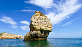 Portugal, Algarve rocky coast Royalty Free Stock Photos
