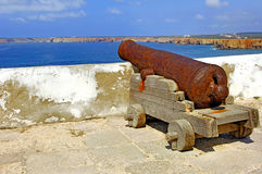 Portugal, Algarve, Sagres: Fortification Stock Image