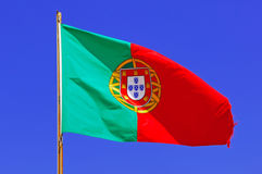 Portugal, Algarve, Sagres: Portuguese Flag Royalty Free Stock Photos