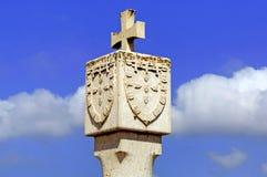 Portugal, Algarve, Sagres: símbolos nacionales Fotografía de archivo libre de regalías