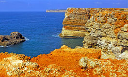 Portugal, Algarve, Sagres: Wonderful coastline Stock Images