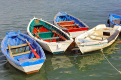 Portugal, Algarve, Tavira: fishing barks Stock Images