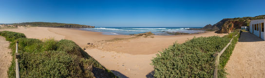 Portugal_Amoreira beach in South-West Alentejo Royalty Free Stock Photo