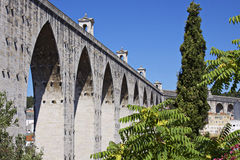 Portugal: Aqueduct in Lisbon Royalty Free Stock Images