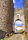 Portugal, area of Alentejo;defensive wall. Portugal, area of Alentejo, Evoramonte: medieval defensive wall near the Convention castle; view from the main royalty free stock photography