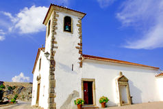 Portugal, area of Alentejo, Marvao: old Church. Blue sky and nice ancient white church, a typical image from portugal royalty free stock photo