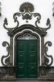 Portugal Azores Islands Terceira baroque church - Angra do Heroismo Stock Image