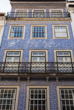 Portugal. The Azulejo house on the street Combray (Portugal Royalty Free Stock Image