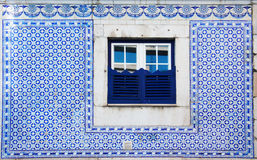 Portugal Azulejo style decor of street window Stock Photo
