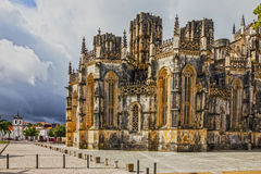 Portugal. Batalha Dominican medieval monastery, Gothic art Stock Photos