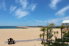 It is Portugal beach in Algarve Royalty Free Stock Photos