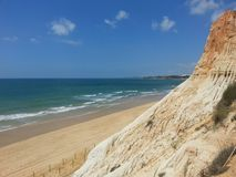 Portugal beach. Beautiful beach in a summer day Royalty Free Stock Images