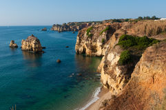 Portugal beach. Lagos is a small city in Portugal Stock Photography