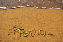Portugal beach Stock Photography