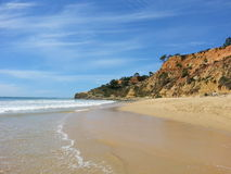 Portugal. Beach in a summer day Royalty Free Stock Images