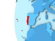 Portugal On Blue Political Globe Stock Illustration Image - Portugal globe map