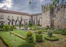 Portugal, Braga Van bischop` s kasteel en Santa Barbara tuinen royalty-vrije stock afbeelding