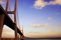 Portugal bridge. Vasco da gama bridge, portugal Royalty Free Stock Images
