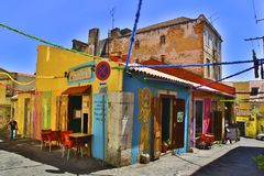Portugal building. Colorful porto street Stock Images