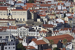 Portugal: Buildings in central Lisbon Stock Photography