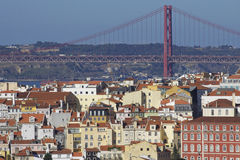Portugal: Buildings in central Lisbon Royalty Free Stock Photography