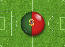 Portugal button Stock Photography
