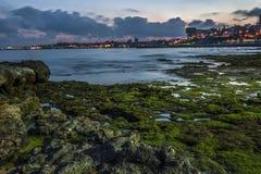 Portugal , Cascais. Atlantic coastal strip, evening. Royalty Free Stock Photography