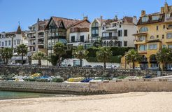 portugal Cascais - città e porto marittimo situati non lontano da Lisbona immagine stock libera da diritti