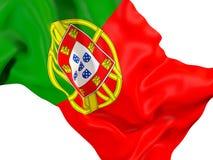 portugal chorągwiany falowanie Obrazy Royalty Free