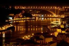 O Porto em a noite imagens de stock