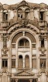 portugal Cidade de Porto Casa velha No sepia tonificado Estilo retro Imagens de Stock