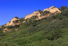 Portugal, Costa da Caparica, parque natural fósil de Arriba Fotografía de archivo
