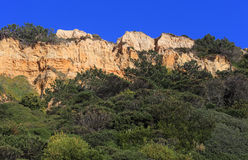 Portugal, Costa da Caparica, parque natural fósil de Arriba Foto de archivo libre de regalías