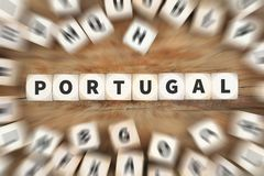 Portugal country travel traveling dice business concept Stock Image