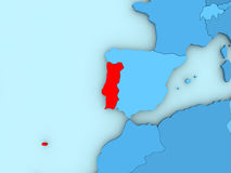 Portugal on 3D map Royalty Free Stock Photography