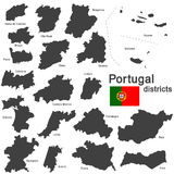 Portugal and districts Royalty Free Stock Images