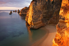 Portugal: Dona Ana beach in Lagos Stock Photo