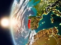 Portugal durante o por do sol na terra ilustração royalty free