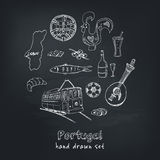 Portugal  elements and symbols. Hand drawn vector illustration Royalty Free Stock Image