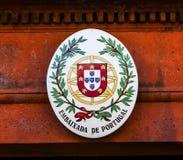 Portugal Embassy Seal Massachusetts Avenue Washington DC Stock Photo