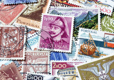 Portugal en sellos Fotografía de archivo libre de regalías