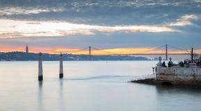 Portugal, Europa - het Gezichtspunt van de Kolommenwerf Royalty-vrije Stock Afbeeldingen